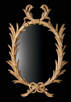 George III Chippendale Palm Mirror