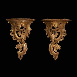 Chippendale Carved Giltwood Wall Bracket