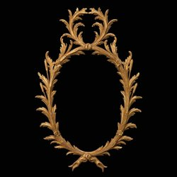 Chippendale Carved Giltwood Oval Palm Mirror