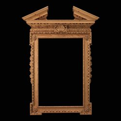 William Kent Antique Pine Architectural Mirror