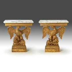 William Kent Carved Giltwood Eagle Table