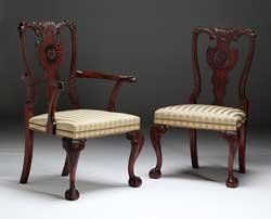 Irish Chippendale Dining Chair