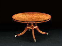 Circular Dining Table in Burr Poplar