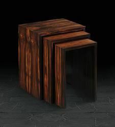 Nest of Three in Crown Macassar Ebony
