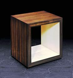 Open Centre End Table in Crown Macassar Ebony
