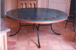 Circular Hand Painted Dining Table
