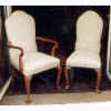 Cabriole Leg Camel Back/Arm Chair