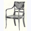 Painted Regency Caned Armchair