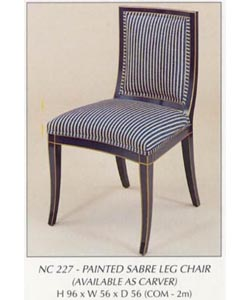 Painted Sabre Leg Chair