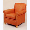 Roll arm Leather Armchair