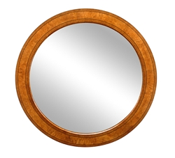 Walnut Circular Mirror
