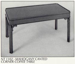 Mahogany Canted Corner Coffee Table