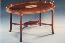 Two Part Inlaid Tray Tables