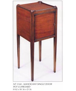 Mahogany Single Door Pot Cupboard