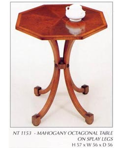 Mahogany Octagonal Table on Splay Legs