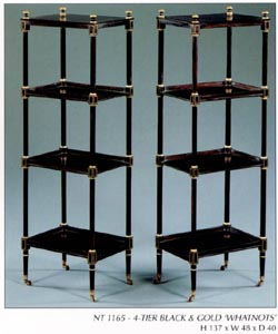 4 Tier Black and Gold 'Whatnots'