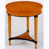 Circular Lamp Table in Satinwood