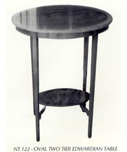 Oval Two Tier Edwardian Table
