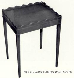 Wavy Gallery Wine Table