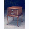 Bedside Chest on Cabriole Legs