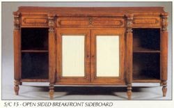Open Sided Breakfront Sideboard