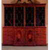Inlaid Mahogany Breakfront Bookcase