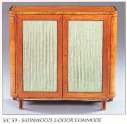 Satinwood 2-Door Commode