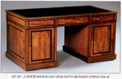 2 Door Mahogany Desk