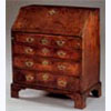 4 Drawer Burr-Walnut Bureau