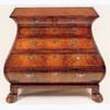 Burr Walnut Chest of Bombe Form