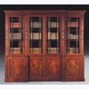 Mahogany Break Front Library Bookcase