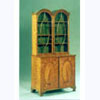 Glazed Top Satinwood Bookcase
