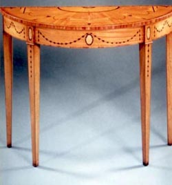 Satinwood Griffin Console Table