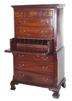Georgian Secretaire Chest on Chest