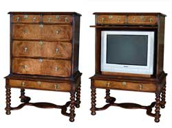 TV / VCR Cabinet William & Mary Chest