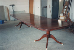 Twin Ped Mahogany Dining Table
